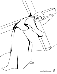 Jesus Christ Carrying The Cross Coloring Page