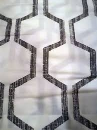 new tommy hilfiger hexagons gray window curtain panels 50x96 pair