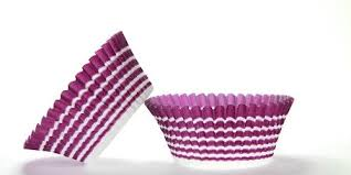 500pc Purple Circle Design Standard Size Cupcake Baking Cups Liners Wrappers