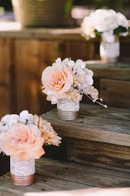 Rustic Wedding Decor Ideas Spray Paint Tin Cans And Put Lace Around For Simple Flower Holder