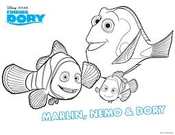 Free Printable Summer Coloring Pages Finding Dory Page From Disney And A Tip