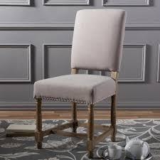 baxton studio deborah beige fabric upholstered dining chair 2pc