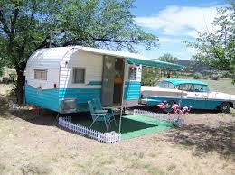 Campground In Colorado Where You Can Stay Restored Vintage Campers With Pink Flamingos