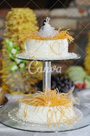 Beautiful White Wedding Cake