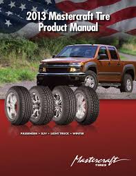 2013 Mastercraft Tire Product Manual - PDF