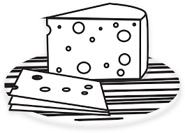 Cheese Clipart Black And White