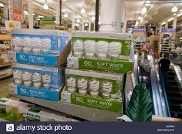 compact fluorescent light bulbs are seen in a home depot store in