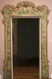 File Door frame 18th century Venice wood polychrome decoration