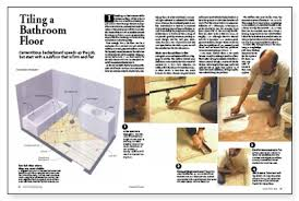 tiling a bathroom floor fine homebuilding