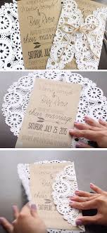 Rustic Doilies Click Pic For 19 Easy To Make Wedding Invitation Ideas DIY Invitations On A Budget