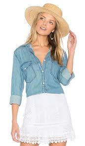 Cupcakes And Cashmere Catalina Shirt In Chambray