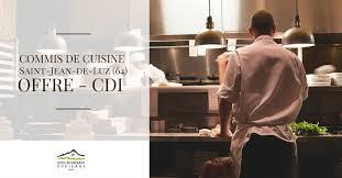 emploi commis de cuisine le donibane recherche 2 commis de cuisine h f