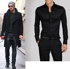 Man Black Dress Men Clothes Style