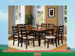 9 PC Square Dinette Dining Table And 8 Chairs In Black ... Cophagen 3piece Black And Cherry Ding Set Wood Kitchen Island Table Types Of Winners Only Topaz Wodtc24278 3 Piece And Chairs Property With Bench Visual Invigorate Sets You Ll Love Walnut Tables Custmadecom Cafe Back Drop Leaf Dinette Sudo3bchw Sudbury One Round Two Seat In A Rich Finish Sabrina Country Style 9 Pcs White Counter Height Queen Anne Room 4 Fniture Of America Dover 6pc Venus Glass Top Soft