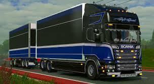 100 Tandem Trucking ETS2 V1181 Scania Gigablau Interior YouTube