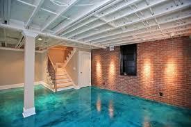 Exposed Basement Ceiling Lighting Ideas by Flooring Ideas Cream Floor Tile Option In Simple Basement