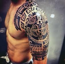 Small Tribal Tattoos For Men Shoulder
