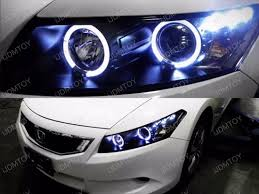 2008 12 honda accord coupe black halo projector headlight