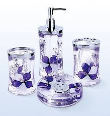 Girly Bathroom Accessories Sets by Best 25 Purple Bathroom Accessories Ideas On Pinterest Diy