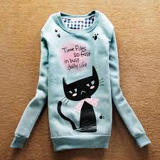 cat hoodies popular pink cat pullover buy cheap pink cat pullover lots from