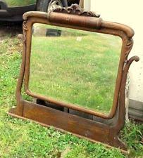 Tiger Oak Dresser With Swivel Mirror by Antique Oak Mirror Ebay