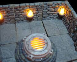 3d Dungeon Tiles Dwarven Forge by Led Battery Operated Wall Torches Dwarven Forge Tabletop
