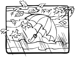 Windy Weather Coloring Pages Printable