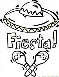 Fiesta Coloring Page For Kids And Adults From Countries Pages Mexico