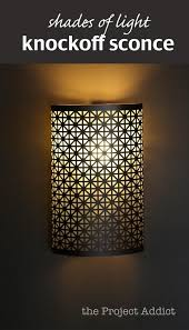 DIY Home Shades Of Light Knockoff Sconce