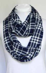 This Navy Blue And White Plaid Scarf Is A Must Have Fall Accessory It