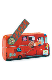 Djeco Mini Silhouette The Fire Truck 16-Piece Puzzle | Nordstrom