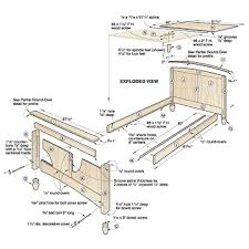 bed plans woodworking bed plans diy u0026 blueprints