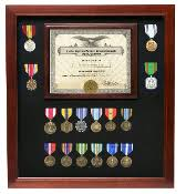 Military Certificate Medal Display Case Doc And Frame
