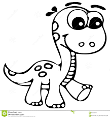 Baby Dino Coloring Pages Dinosaur Page With