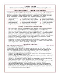 Operations Management Resume Samples