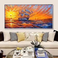 großhandel sunset bild abstrakte handgemachte moderne ölgemälde auf leinwand wandkunst geschenk für wohnzimmer dekoration kein rahmen