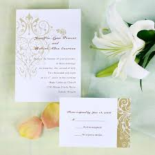 Cheap Vintage Chandelier Pattern Wedding Invites With Free Response Card