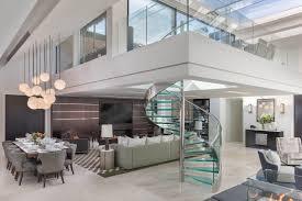 100 Penthouse Design Elegant Contemporary Mayfair With Sleek Glass Spiral