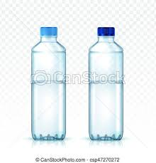 Two Blank Water Bottle Models For Design Uses Transparent