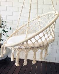 Azul Bereber Crochet Hanging Chair