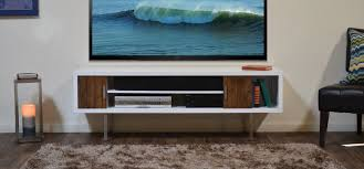 Modern Living Room Style With Floating Media Console Cabinet And