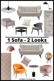 1 retro sofa in 2 verschiedenen looks wohnzimmer modern