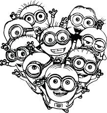 Remarkable Minions Coloring Pages To Print Online Free Printable Minion Color Sheets Colouring Evil Kids Birthday
