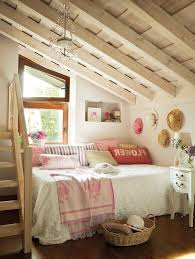 Low Ceiling Attic Bedroom Ideas Shelves Corner Curtain Window Laminated Rug On Wooden Floor Floral Patterned Carpet