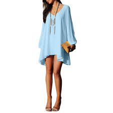 s5q long sleeve casual loose shirt dress women summer party