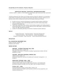 Math Teacher Resume Sample Teaching Resumes Examples Secondary Instructor Samples