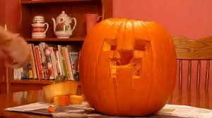 Minecraft Pumpkin Carving Patterns by Minecraft Creeper Pumpkin Carving Youtube