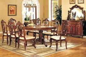 Formal Dining Chairs Room Sets Dark Brown Varnish Long Wooden