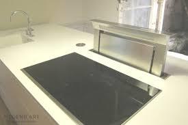 cuisine avec ilot bar ilot central cuisine avec bar hotte escamotable plaque induction