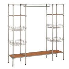 honey can do 68 in x 16 5 in freestanding closet organizer wrd
